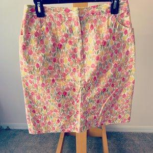 Liz Claiborne floral skirt size 8
